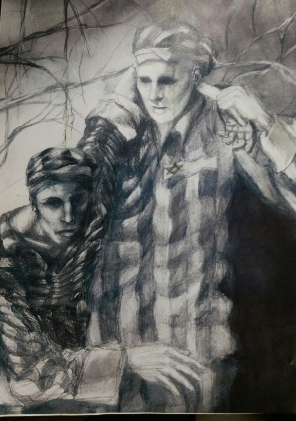 "Delone Catholic's Kristen Landsman Wins International Holocaust Art Contest with Piece Titled ""Humanity"""
