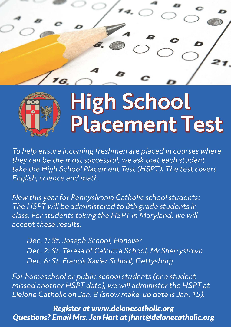 Placement Testing Flyer (click for PDF)
